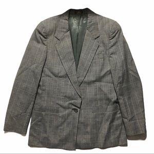 REGALIA COLLECTION Grey Plaid Suit Jacket